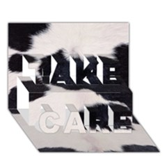 Spotted Cow Hide Take Care 3d Greeting Card (7x5)