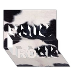 Spotted Cow Hide You Rock 3d Greeting Card (7x5)