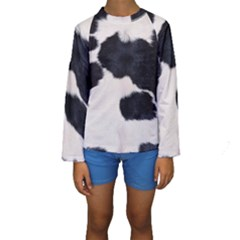 SPOTTED COW HIDE Kid s Long Sleeve Swimwear