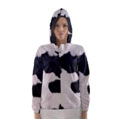 SPOTTED COW HIDE Hooded Wind Breaker (Women)