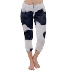 SPOTTED COW HIDE Capri Winter Leggings