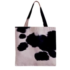 SPOTTED COW HIDE Zipper Grocery Tote Bags