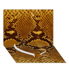 SNAKE SKIN Heart Bottom 3D Greeting Card (7x5)