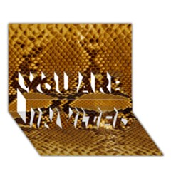 SNAKE SKIN YOU ARE INVITED 3D Greeting Card (7x5)