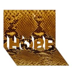 Snake Skin Hope 3d Greeting Card (7x5)