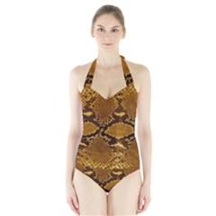 Women s Halter One Piece Swimsuit