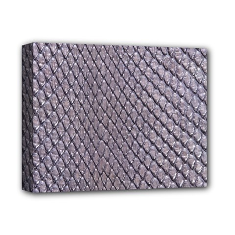 SILVER SNAKE SKIN Deluxe Canvas 14  x 11