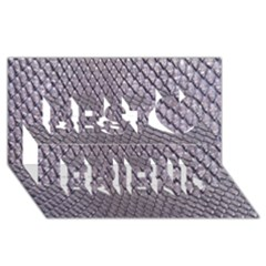Silver Snake Skin Best Friends 3d Greeting Card (8x4)