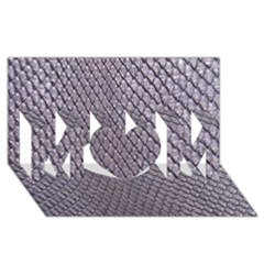 Silver Snake Skin Mom 3d Greeting Card (8x4)