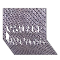 SILVER SNAKE SKIN YOU ARE INVITED 3D Greeting Card (7x5)