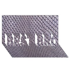 Silver Snake Skin Best Bro 3d Greeting Card (8x4)