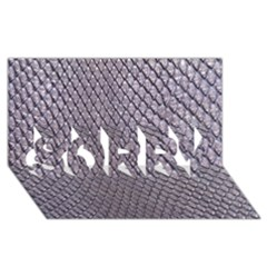 Silver Snake Skin Sorry 3d Greeting Card (8x4)
