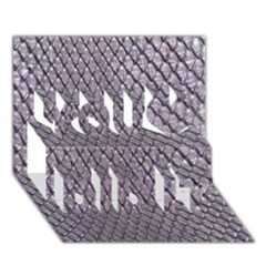 Silver Snake Skin You Did It 3d Greeting Card (7x5)