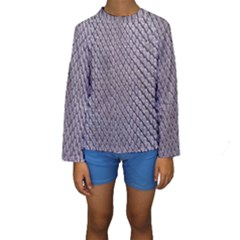 SILVER SNAKE SKIN Kid s Long Sleeve Swimwear