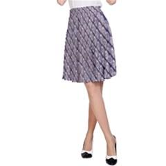 SILVER SNAKE SKIN A-Line Skirt