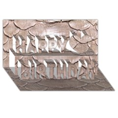 Scaly Leather Happy Birthday 3d Greeting Card (8x4)