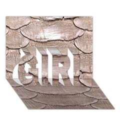 SCALY LEATHER GIRL 3D Greeting Card (7x5)