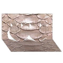 SCALY LEATHER Twin Hearts 3D Greeting Card (8x4)