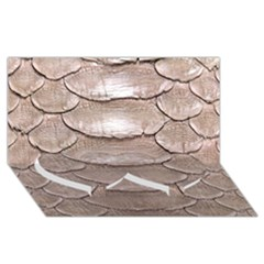 Scaly Leather Twin Heart Bottom 3d Greeting Card (8x4)