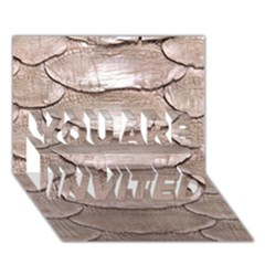 SCALY LEATHER YOU ARE INVITED 3D Greeting Card (7x5)