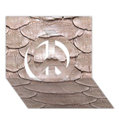 Scaly Leather Peace Sign 3d Greeting Card (7x5)