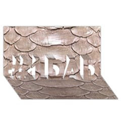 SCALY LEATHER #1 DAD 3D Greeting Card (8x4)