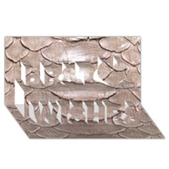 Scaly Leather Best Wish 3d Greeting Card (8x4)