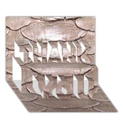 Scaly Leather Thank You 3d Greeting Card (7x5)