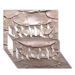 Scaly Leather You Rock 3d Greeting Card (7x5)