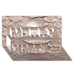 Scaly Leather Merry Xmas 3d Greeting Card (8x4)