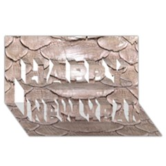 Scaly Leather Happy New Year 3d Greeting Card (8x4)