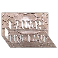 Scaly Leather Laugh Live Love 3d Greeting Card (8x4)