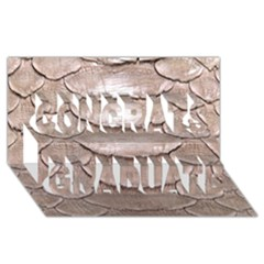 Scaly Leather Congrats Graduate 3d Greeting Card (8x4)