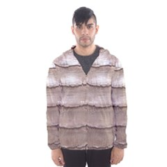 Scaly Leather Hooded Wind Breaker (men)