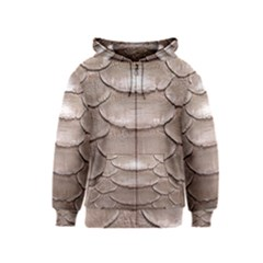 SCALY LEATHER Kids Zipper Hoodies