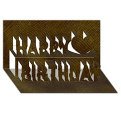 Reptile Skin Happy Birthday 3d Greeting Card (8x4)