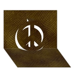 REPTILE SKIN Peace Sign 3D Greeting Card (7x5)