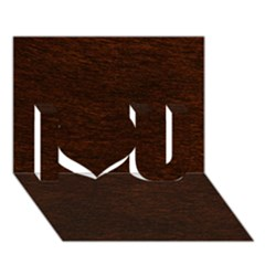 Reddish Brown Fur I Love You 3d Greeting Card (7x5)