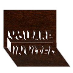 Reddish Brown Fur You Are Invited 3d Greeting Card (7x5)