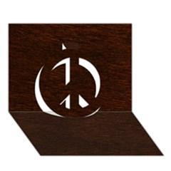 Reddish Brown Fur Peace Sign 3d Greeting Card (7x5)