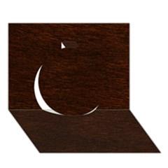 Reddish Brown Fur Circle 3d Greeting Card (7x5)