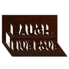 REDDISH BROWN FUR Laugh Live Love 3D Greeting Card (8x4)