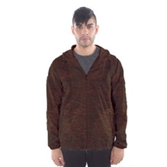REDDISH BROWN FUR Hooded Wind Breaker (Men)
