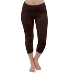 Reddish Brown Fur Capri Winter Leggings