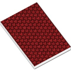 Red Reptile Skin Large Memo Pads