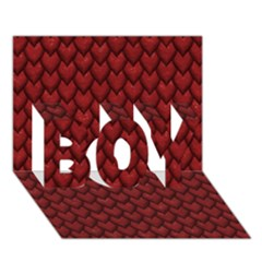 RED REPTILE SKIN BOY 3D Greeting Card (7x5)