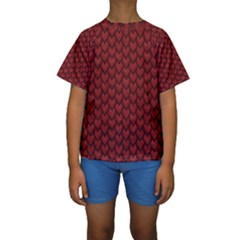 RED REPTILE SKIN Kid s Short Sleeve Swimwear