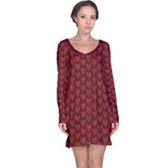 RED REPTILE SKIN Long Sleeve Nightdresses