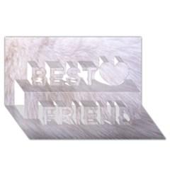 Rabbit Fur Best Friends 3d Greeting Card (8x4)
