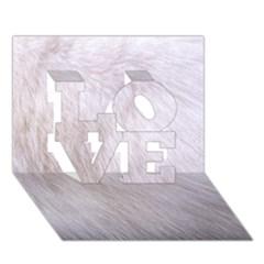 RABBIT FUR LOVE 3D Greeting Card (7x5)